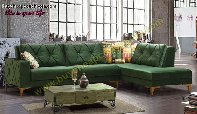 Green L Shaped Corner Sofa Modern Corner Sofabed Cheap Luxury Corner