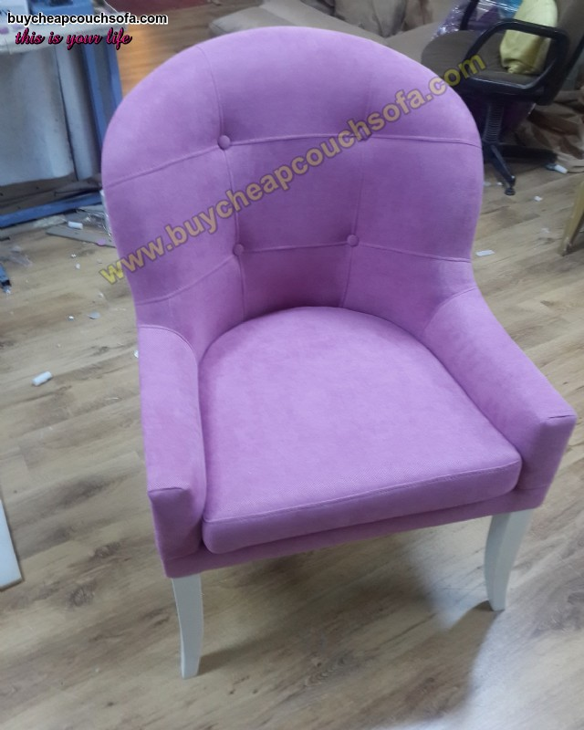 Purple Velvet Armchairs Tufted Modern Luxury Armchairs