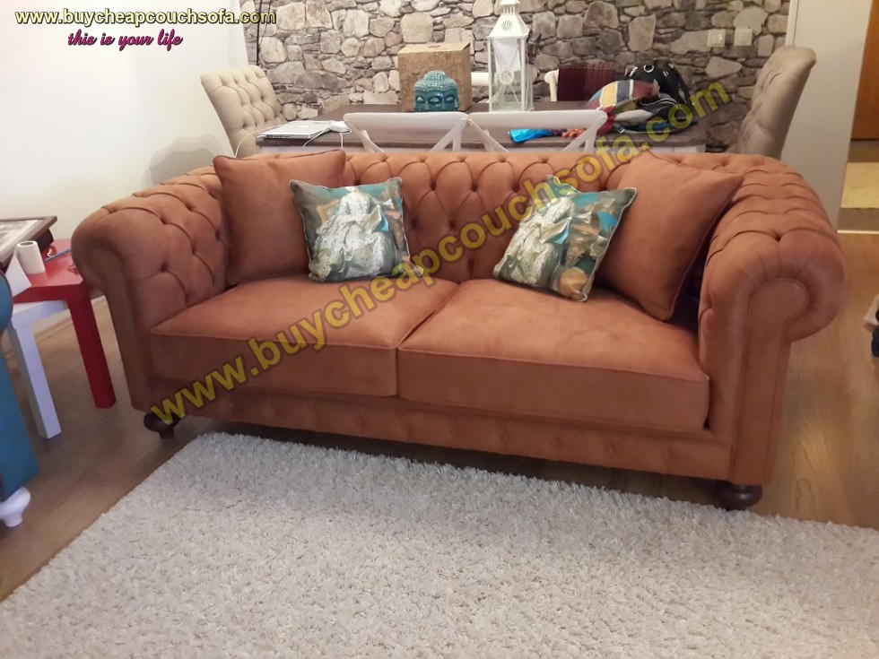 Kodu: 10322 - Brown Luxury Chesterfield Sofa 3 Seater Chesterfield Sofa