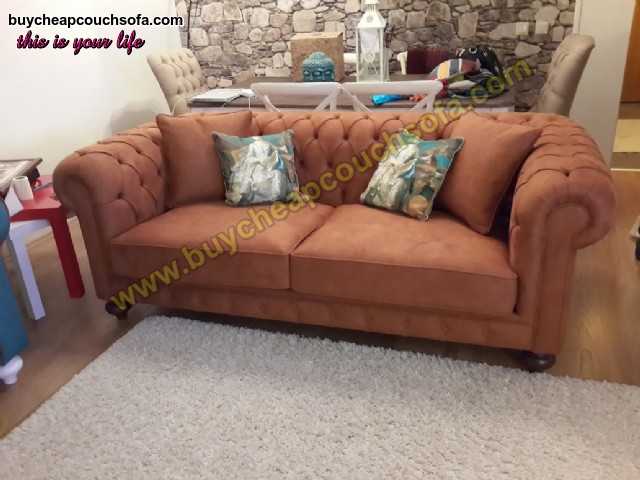 Brown Luxury Chesterfield Sofa 3 Seater Chesterfield Sofa