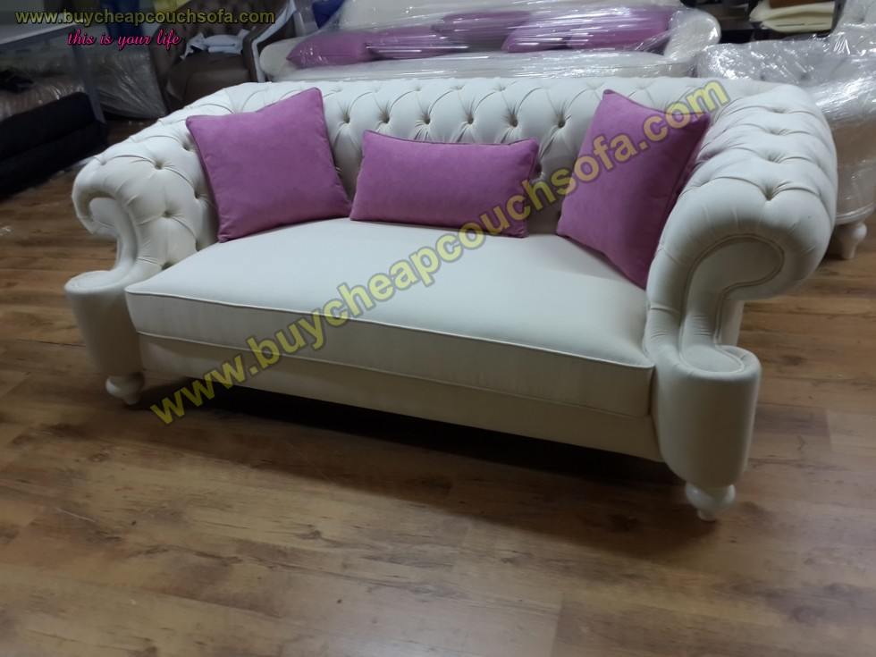Kodu: 10242 - Elegance Gray Velvet Sofa 3 Seater Luxury Counch High Comfortable