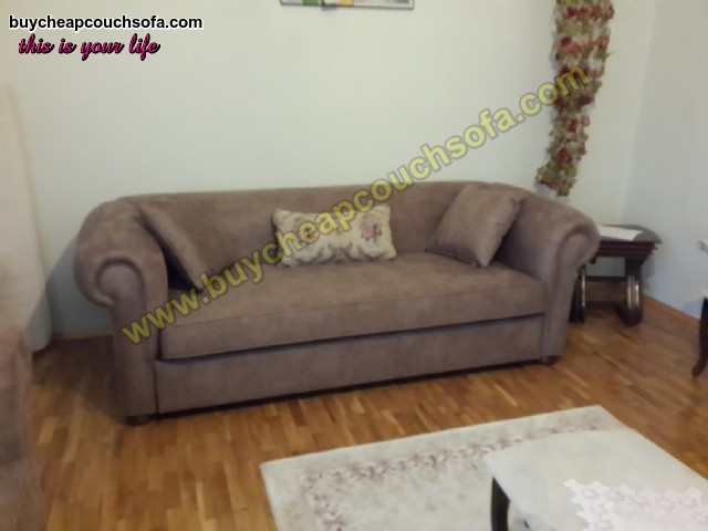 Gray Luxury Chesterfield Sofa 3 Seater Chesterfield Sofa