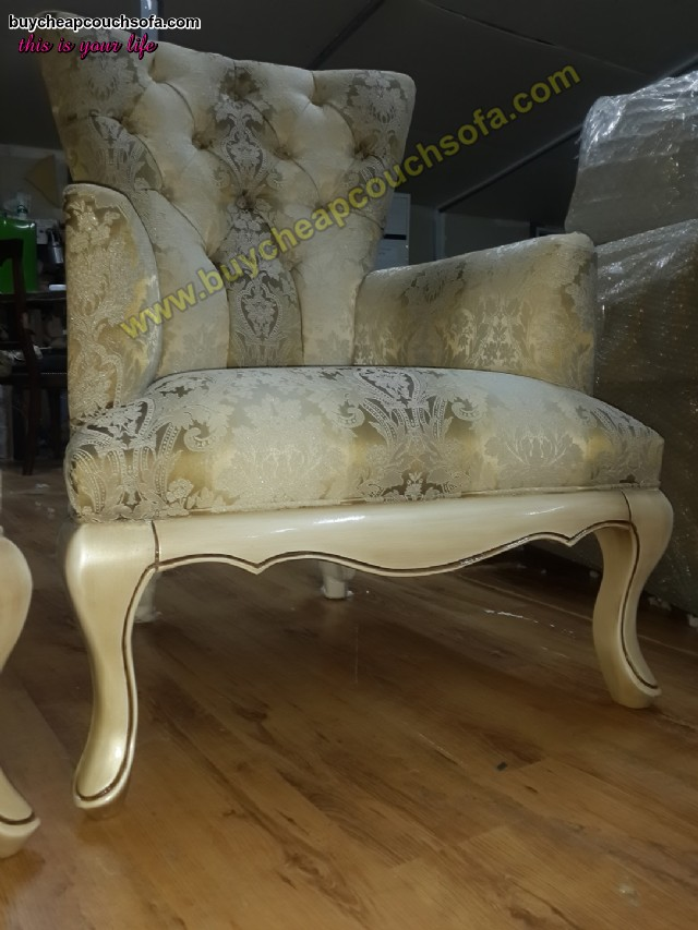 Luxury Wooden Armchair Carved Accent Chair