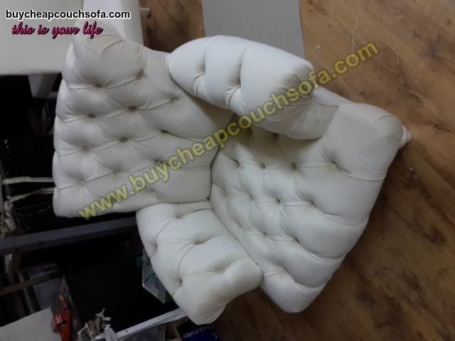 White Chesterfield Armchairs