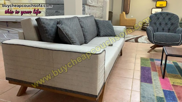 White Fabric Sofabed Plus 3 Seats