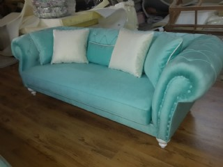 Turquoise Blue Velvet Chesterfield Sofa Luxury Cheap Sofas
